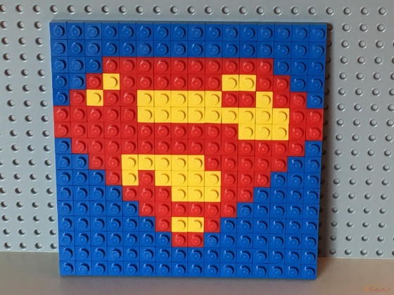 Superman-Logo als Mosaik