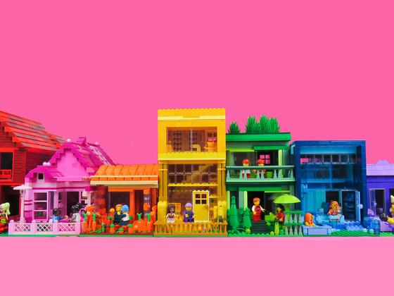 Mipi´s MOC Love has many colors - Regenbogenhäuser