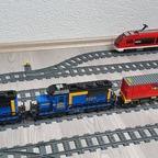 Endlich fertiggestellt, meine Doppeltraktion für die 7 Containerwagen
