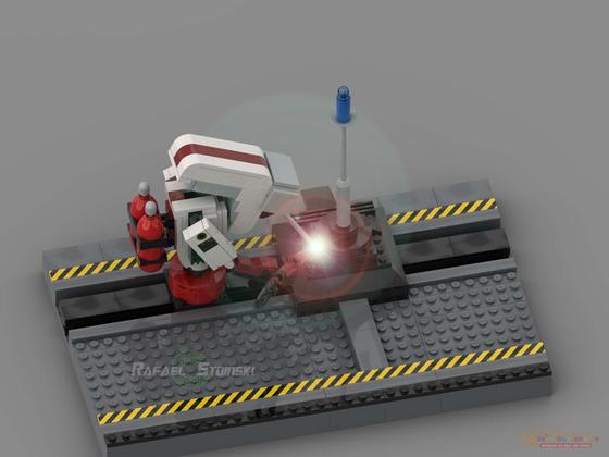 Lego MOC Pixar Burn-E (from the movie Wall-E)