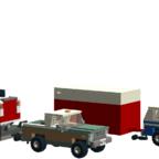 Chevy K5 mit U-Haul Anhänger  und BobCat