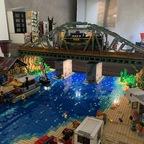 Diorama Landschaft Eisenbahnbrücke MOC