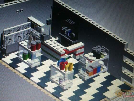 Tankstelle mit Haus