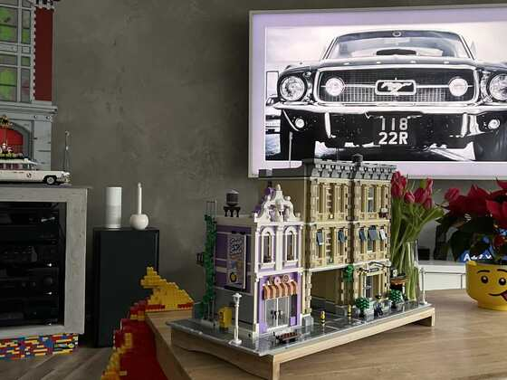 LEGO Polizeiwache 10278 MOD mit LED Beleuchtung