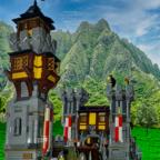 Neuer Anbau der Burg